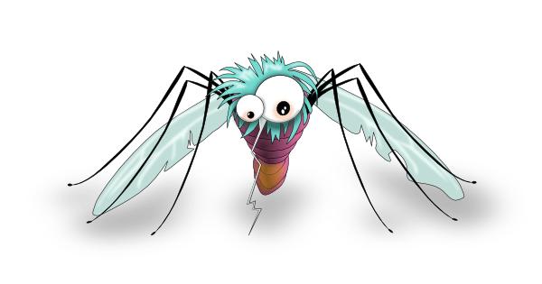 funny mosquito clip art