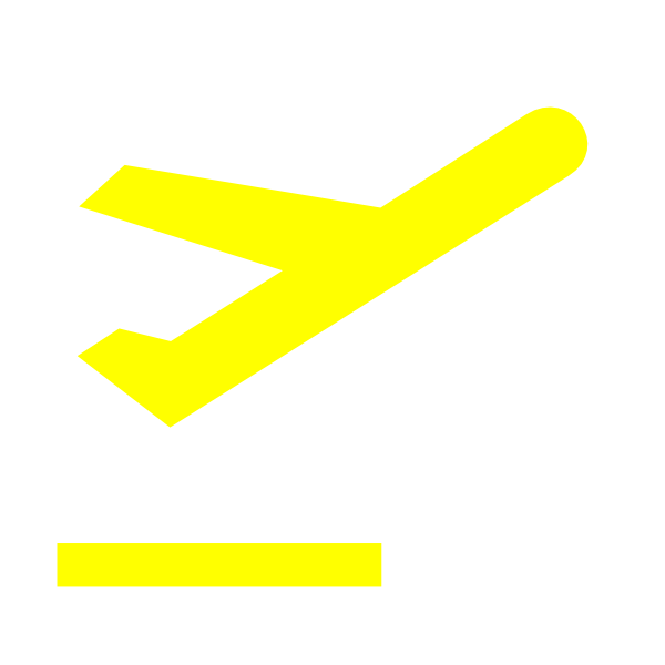 departure sign yellow clip