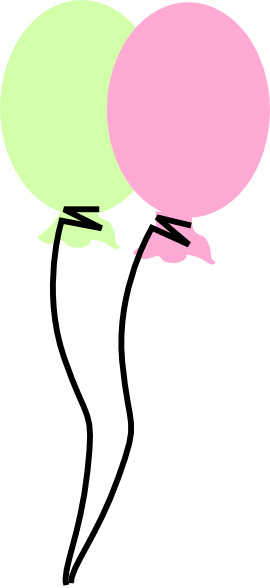 green and pink balloon clip art