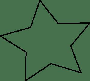 black outline star clip art