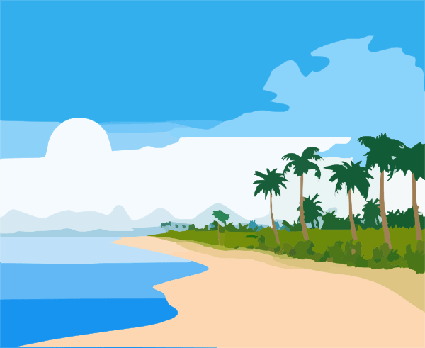 beach clip art - vector