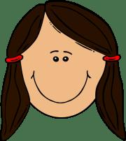 girl brown hair clip art