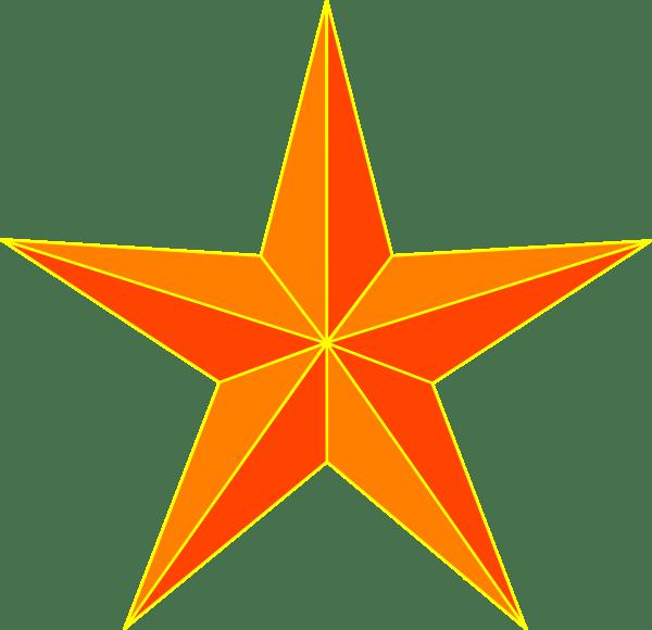 orange star clip art