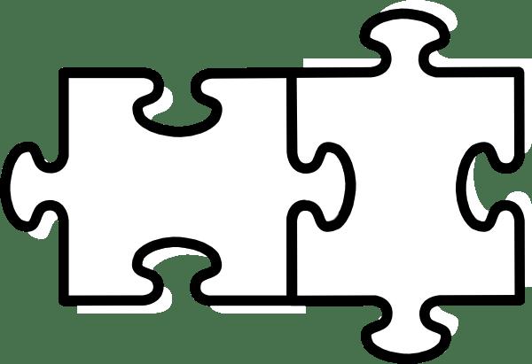 Jigsaw White Puzzle Piece No Shadow Clip Art At Clker Com