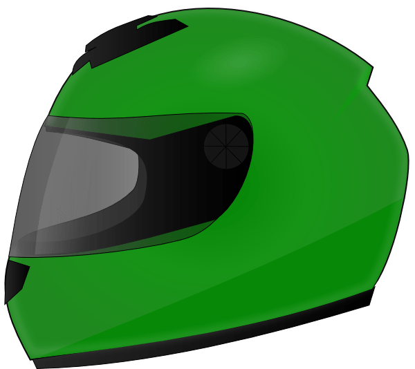 Motorcycle Helmet Outline Clip Art