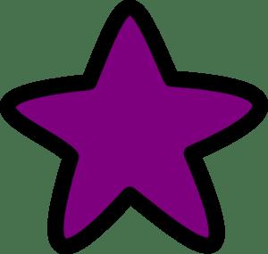 purple star starry clip art
