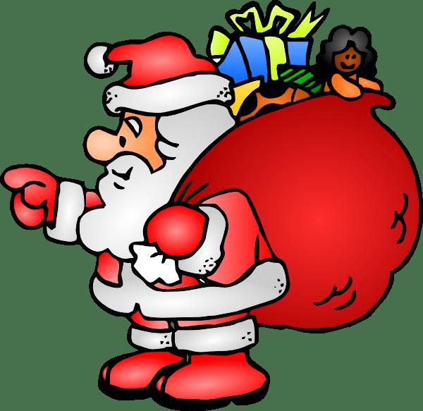 santa claus with bag clip art