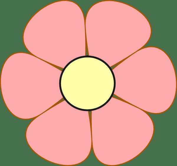 pink daisy clip art
