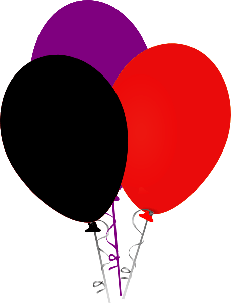 purple black and red balloons clip