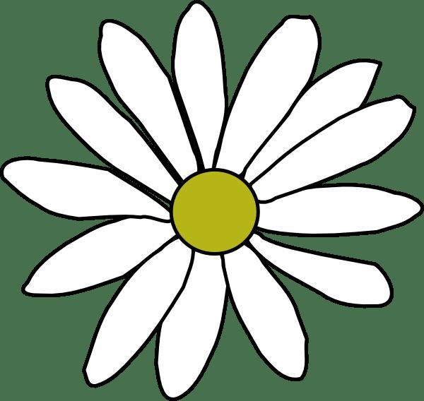 simple daisy clip art