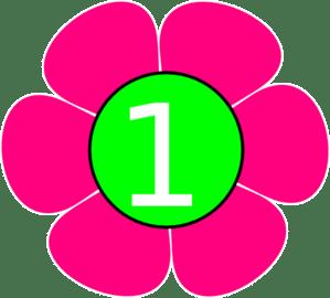 1 Pink Green Flower Clip Art At Clker Com Vector Clip