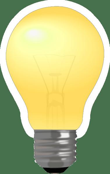 Semi Matte Light Bulb Lit Clip Art At Clker Com Vector