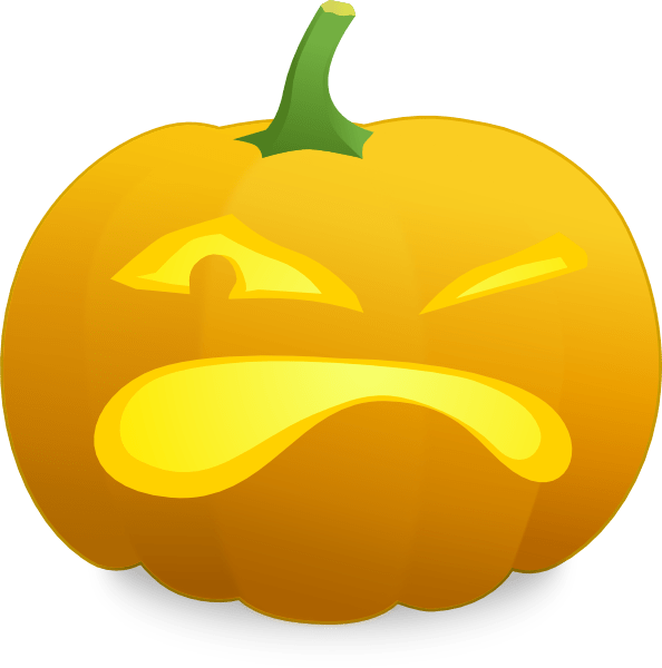 angry jack lantern clip art