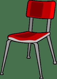 Red Student Desk Chair Clip Art at Clker.com - vector clip ...