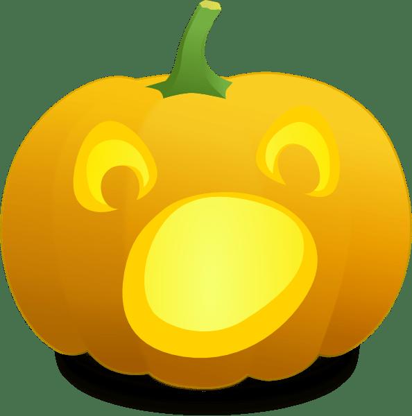 open mouth jack lantern clip