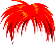 anime hair red clip art