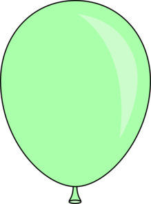 light green balloon clip art