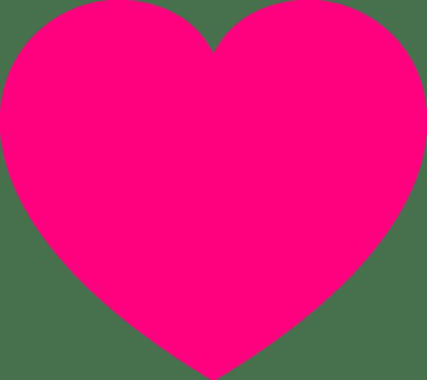 Download Pink Heart2 Clip Art at Clker.com - vector clip art online ...