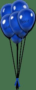 blue balloons clip art