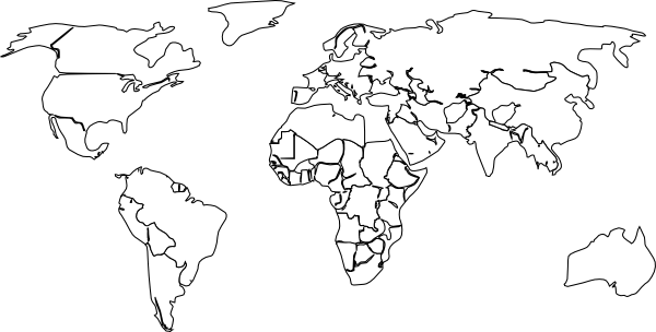 Large world map black and white gumiabroncs Gallery