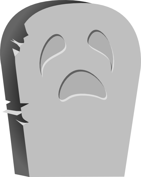 halloween tombstone bright clip