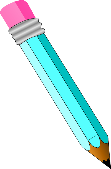 blue pencil clip art
