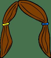 hair clip art - vector