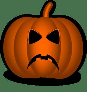 sad pumpkin clip art