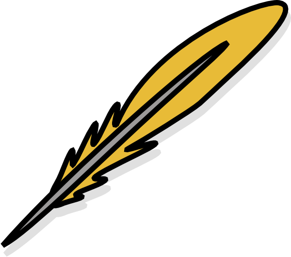 gold feather clip art