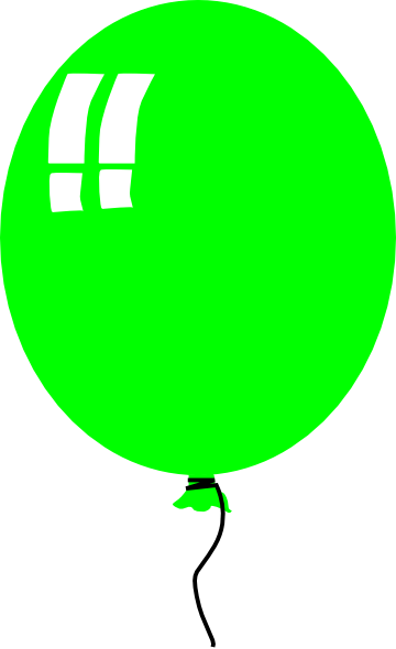 green balloon 2 clip art
