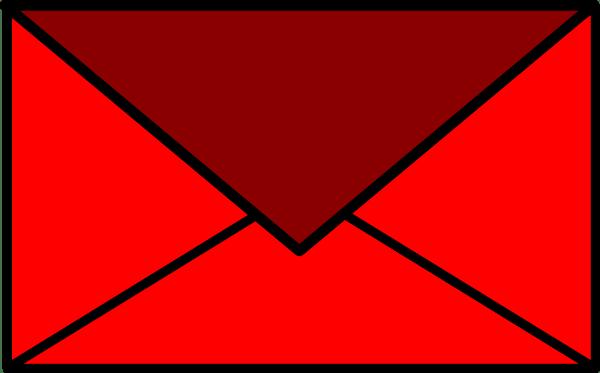 Red Envelope Clip Art at Clkercom  vector clip art online royalty free  public domain