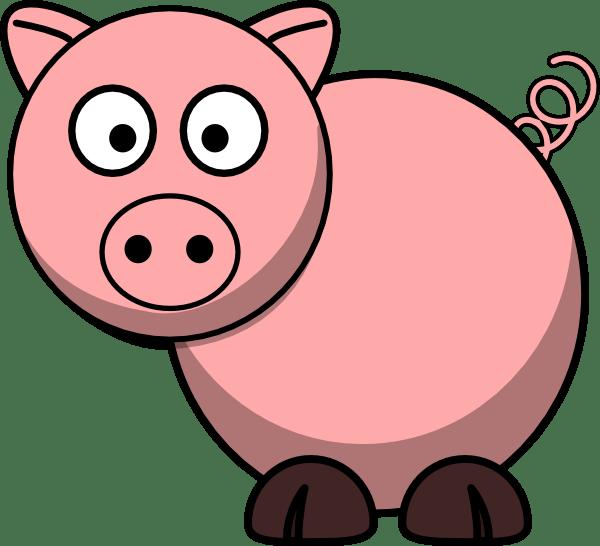 pig clip art - vector