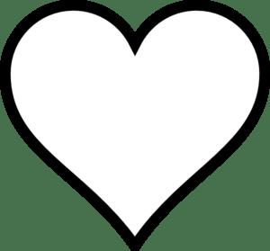 plain heart clip art
