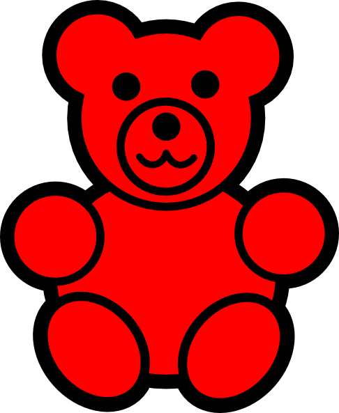 red bear clip art