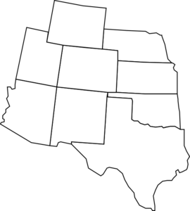 Colorado Map With Surrounding States Clip Art at Clker.com