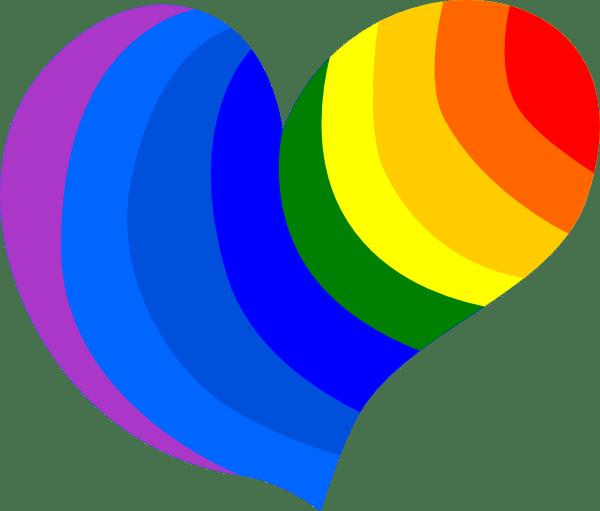 Rainbow Heart Clip Art At Vector Clip Art
