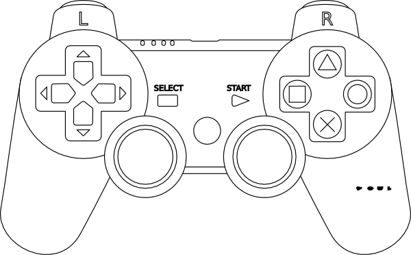 playstation 2 negro coloring pages