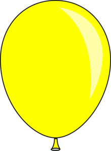 yellow baloon clip art