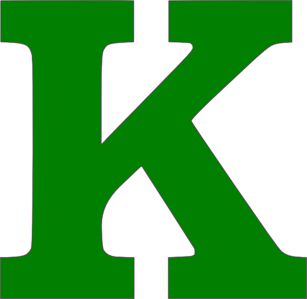 Single K Letter Green Clip Art at Clker.com