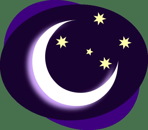 purple moon clip art
