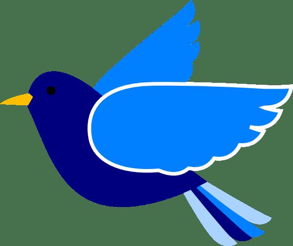 blue bird left2 clip art