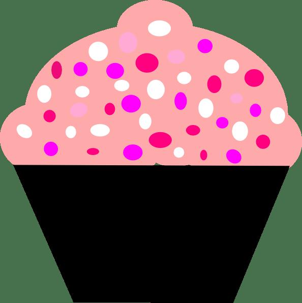 black puple and pink cupcake