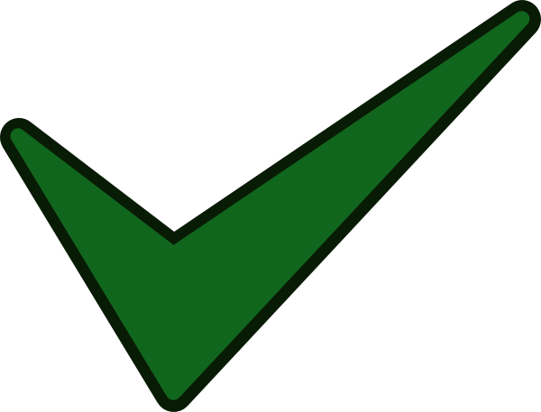 tick clip art - vector