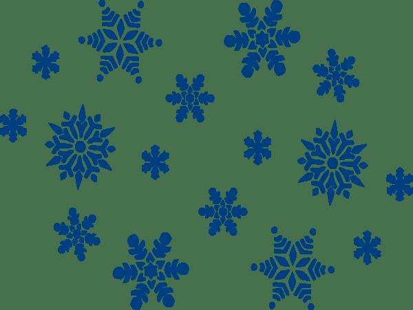 blue snowflakes clip art