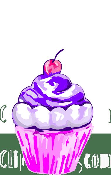 purple cupcake clip art