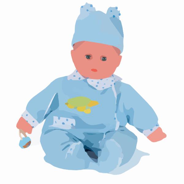 doll clip art - vector
