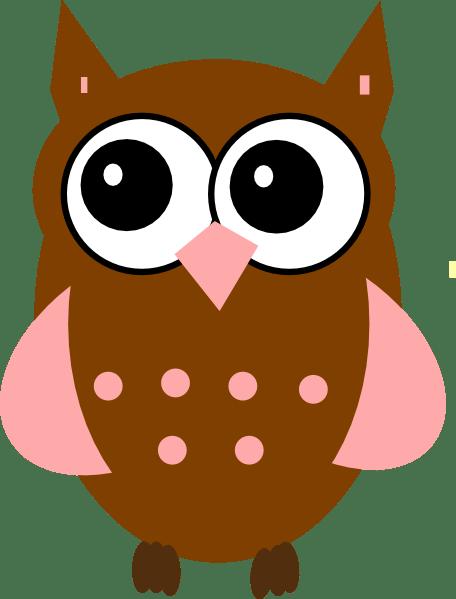 pink owl clip art