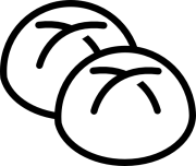 white bread rolls clip art