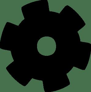 gear black clip art