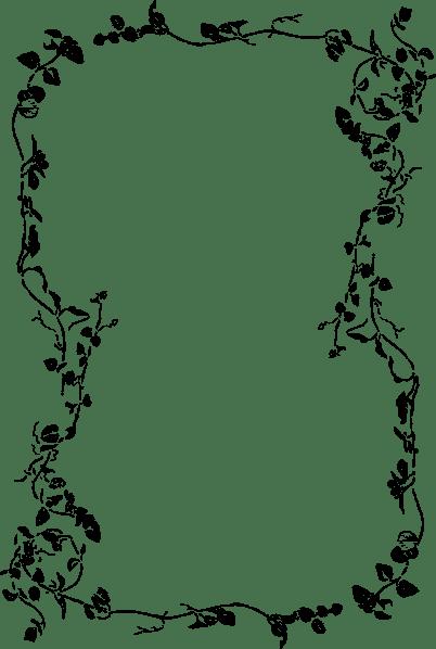 Floral Page Border Clip Art At Vector Clip Art